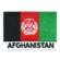 Embroidered iron on national flag of Afghanistan with name text.