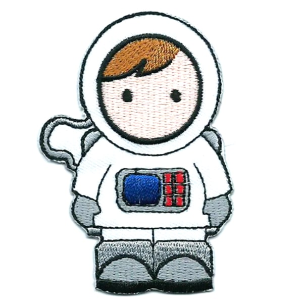 Iron on embroidered astronaut patch
