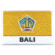 Embroidered iron on provincial flag of Bali with name text.