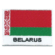 Embroidered iron on national flag of Belarus with name text.