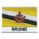 Embroidered iron on national flag of Brunei with name text.