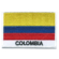 Embroidered iron on national flag of Colombia with name text.