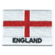 Embroidered iron on national flag of England with name text.