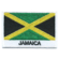 Embroidered iron on national flag of Jamaica with name text.