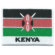 Embroidered iron on national flag of Kenya with name text.