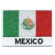 Embroidered iron on national flag of Mexico with name text