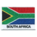 Embroidered iron on national flag of South Africa with name text.