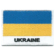 Embroidered iron on national flag of Ukraine with name text.