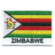 Embroidered iron on national flag of Zimbabwe with name text.