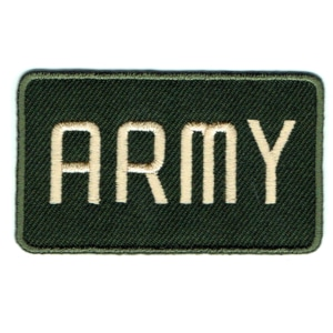 Iron on embroidered army badge patch