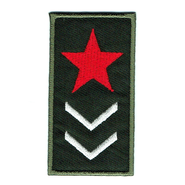 Iron on embroidered army star rank patch