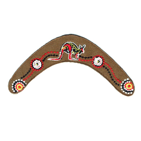 Iron on embroidered Australian boomerang patch