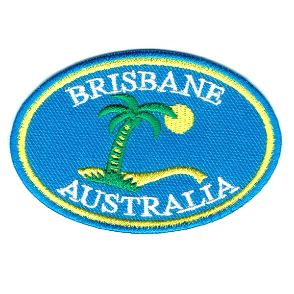 Iron on embroidered Brisbane Australia patch