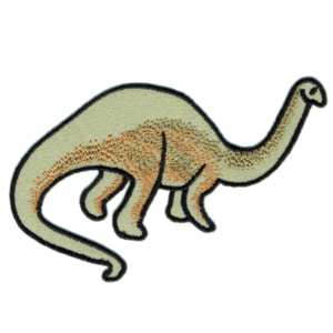 Iron on embroidered brontosaurus dinosaur patch