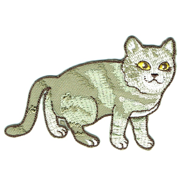 Iron on embroidered cat patch