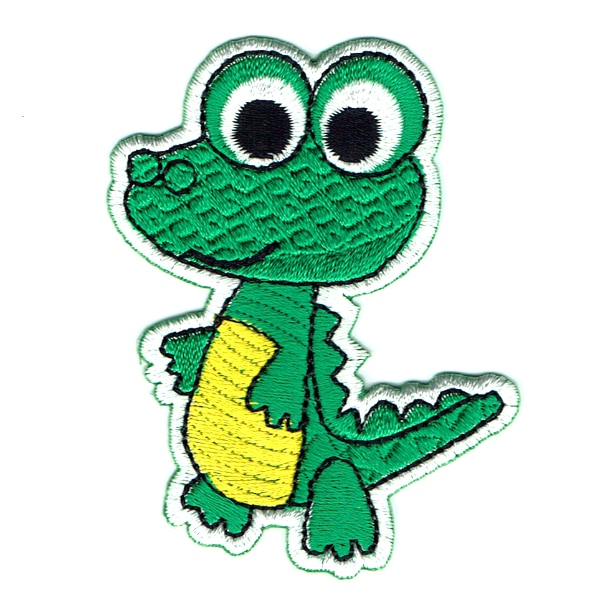 Iron on embroidered baby crocodile patch