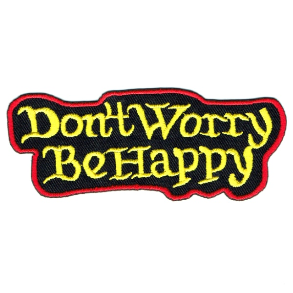 Iron on embroidered don't worry be happy patch