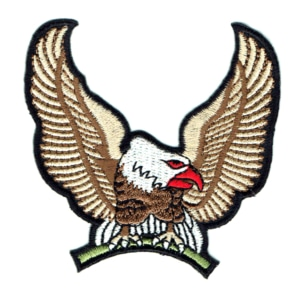 Iron on embroidered eagle patch