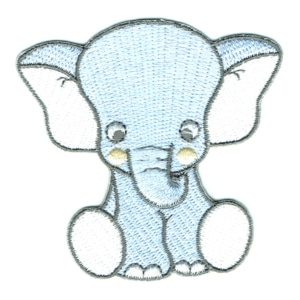 Iron on embroidered baby elephant patch