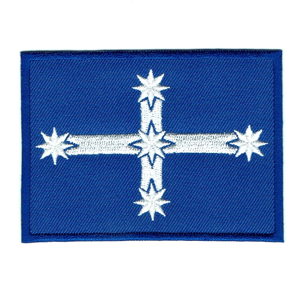 Iron on embroidered blue Eureka Stockade flag patch