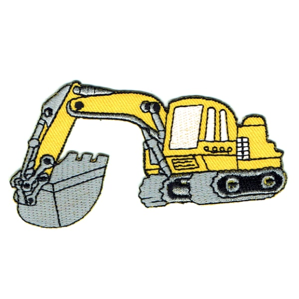 Iron on embroidered excavator patch