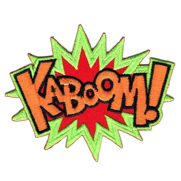 Iron on embroidered kaboom patch