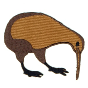 Iron on embroidered kiwi patch