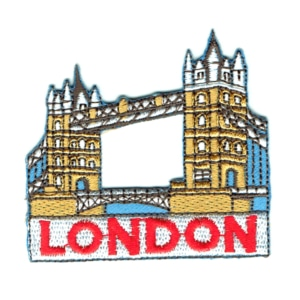 Iron on embroidered London Tower Bridge patch