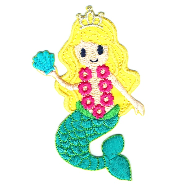 Iron on embroidered mermaid princess patch