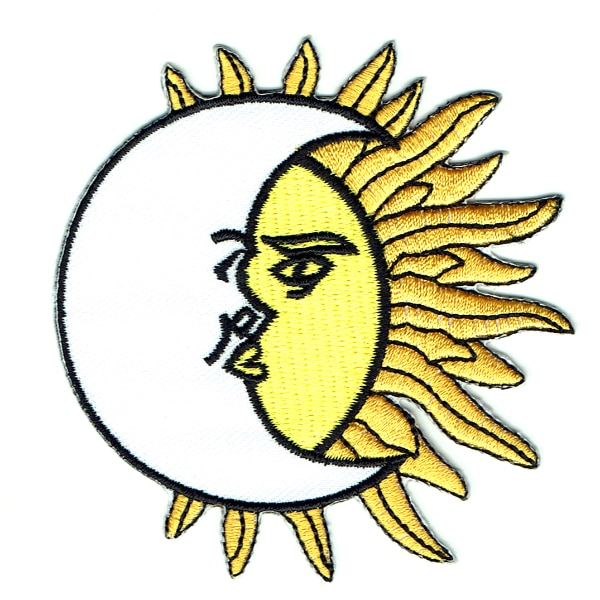 Iron on embroidered moon sun patch