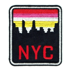 Iron on embroidered New York City skyline patch
