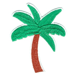 Iron on embroidered palm tree patch