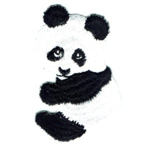 Iron on embroidered panda cub patch