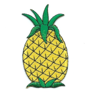 Iron on embroidered yellow pineapple patch