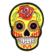 Iron on embroidered yellow rose sugar skull patch