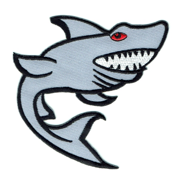 Iron on embroidered shark patch
