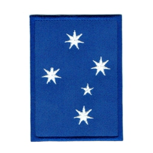 Iron on embroidered blue Australian southern cross patch