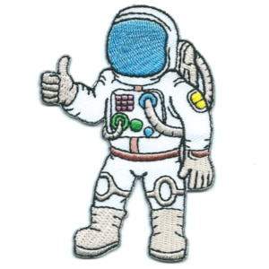 Iron on embroidered space man patch