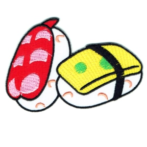 Iron on embroidered sushi patch