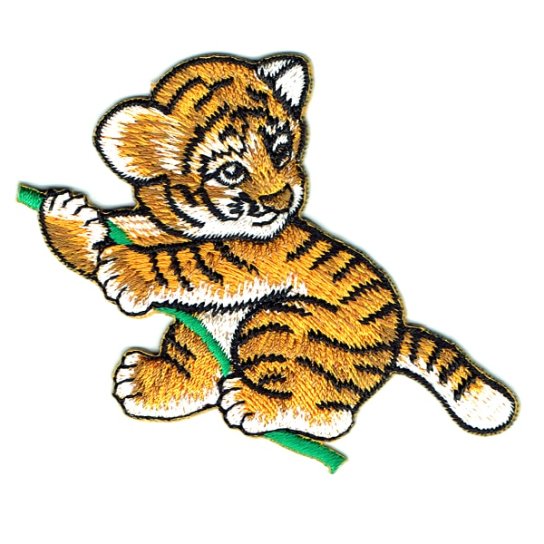 Iron on embroidered tiger cub patch