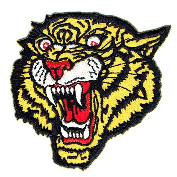 Iron on embroidered tiger patch