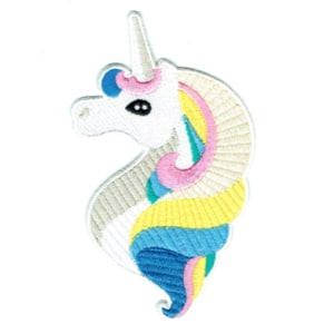 Iron on embroidered unicorn portrait patch