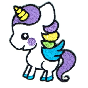 Iron on embroidered unicorn pony patch