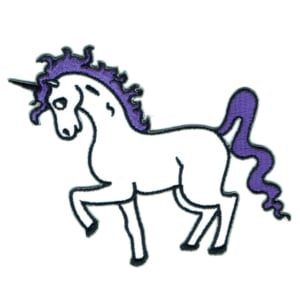 Iron on embroidered purple unicorn patch