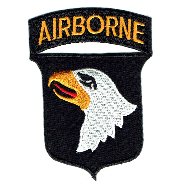 Iron on embroidered 101st division airborne eagle emblem patch