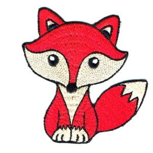 Iron on embroidered red fox patch