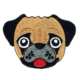 Cute embroidered fawn pug face iron on patch