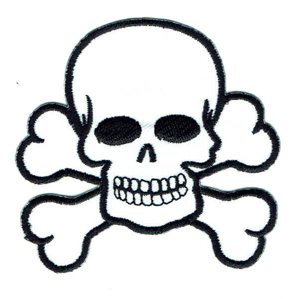 White Skull and Cross Bones