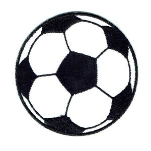 Black and white soccer ball iron on patch